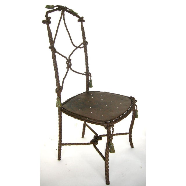 Antique French Cast Iron Garden Cafe Chairs For Sale In Los Angeles - Image 6 of 11