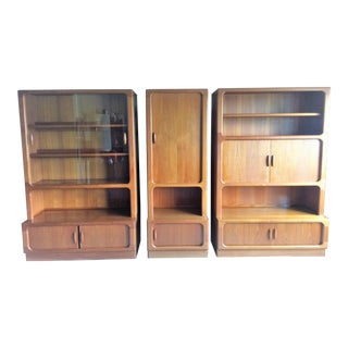 1980s Contemporary Scandinavian Dyrlund Wall Unit - 3 Units (6 Pieces) For Sale