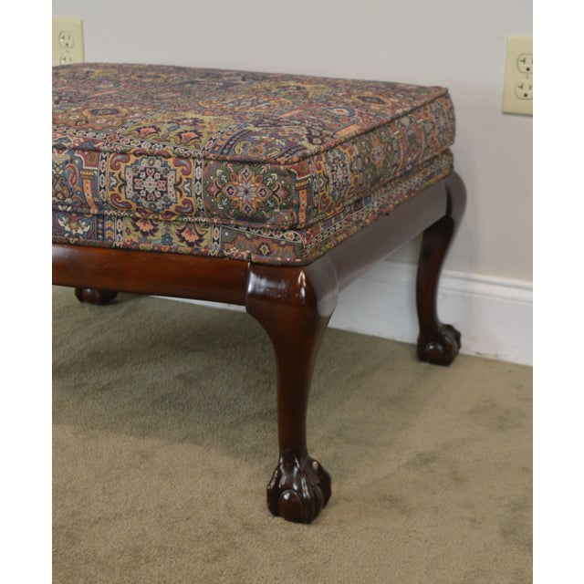 Fairington Chippendale Style Ball & Claw Foot Ottoman For Sale - Image 10 of 13