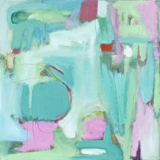 Beth Downey Sea Green Abstract Painting For Sale