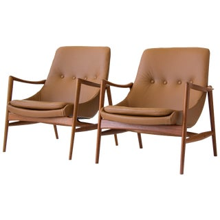 Rastad & Relling Leather Loungers - A Pair