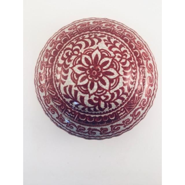 1950s Delft Red & White Lidded Bowl For Sale In New York - Image 6 of 9