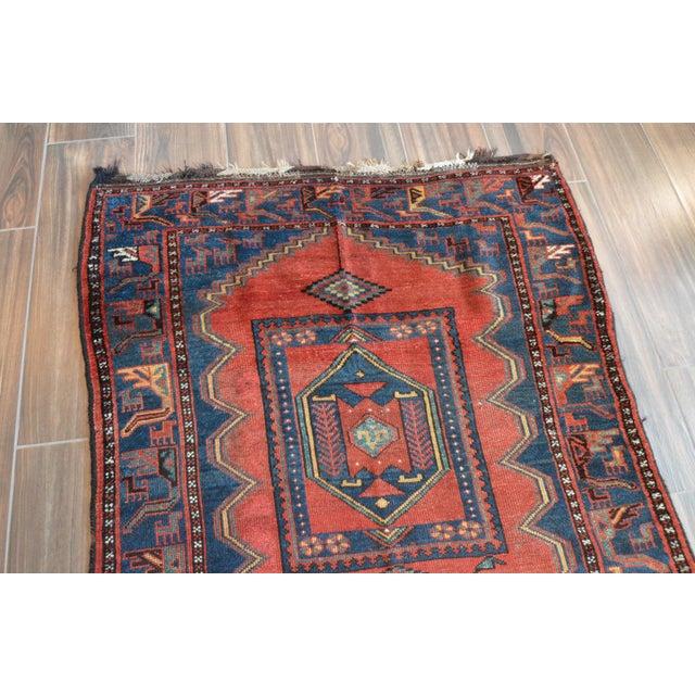 Boho Chic Antique Persian Kelardasht Rug Runner - 4′3″ × 8′6″ For Sale - Image 3 of 10