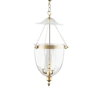 Vintage English Bell Jar Lantern For Sale