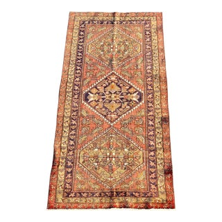 1950s Vintage Persian Hosenibad Runner Rug - 3′6″ × 7′7″ For Sale