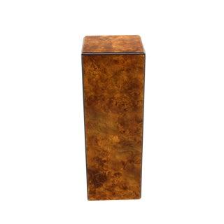 Mid-Century Modern Square Burlwood Pedestal by Drexel For Sale