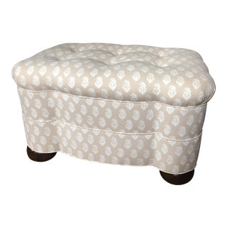 Peter Dunham Rajmata Scalloped Ottoman For Sale