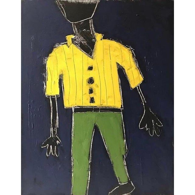 """""""Stride"""" Contemporary Abstract Figure Painting by Sarah Trundle For Sale"""