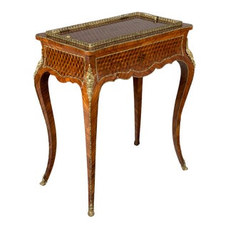 19th Century Louis XV Style Marquetry Table For Sale