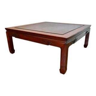 Solid Rosewood Coffee Table With Chinese Key Design