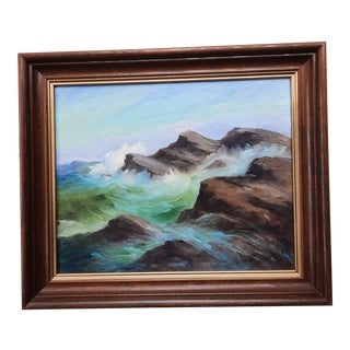 Mary L. Massie Ocean Painting For Sale