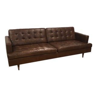 "Gus Modern ""Archer"" Sofa in Saddle Brown Leather For Sale"
