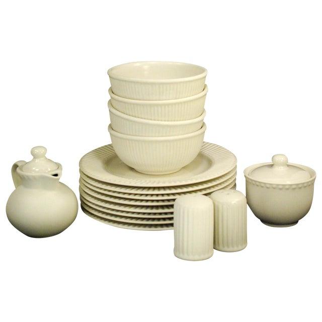 Dansk Rondure Rice White Dinnerware - S/18 For Sale