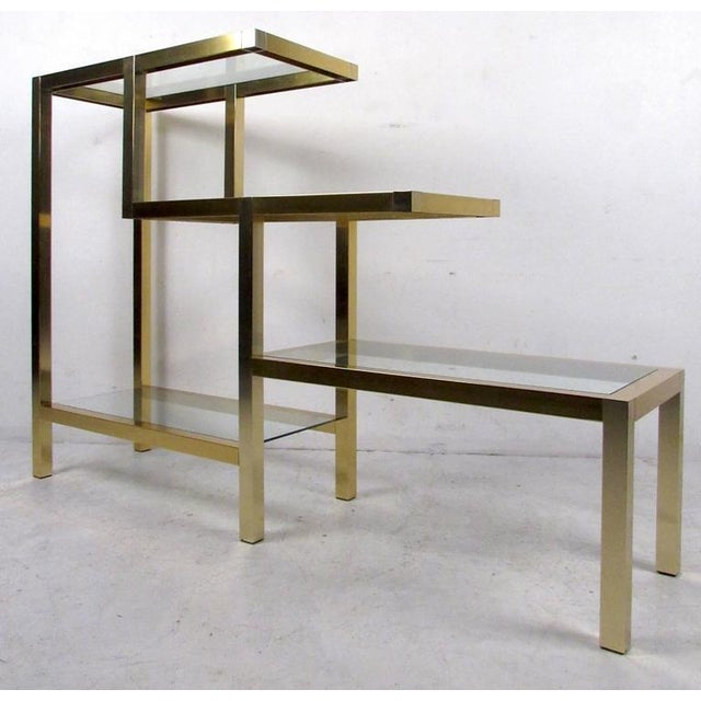 Mid-Century Modern Mid-Century Baughman Style Four-Tier Display Unit For Sale - Image 3 of 6