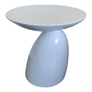 Modern White Hemispheres End Table For Sale