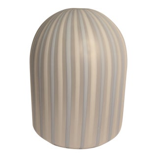 Mid-Century Modern Venini Glass Striped Dome Pendant Light For Sale