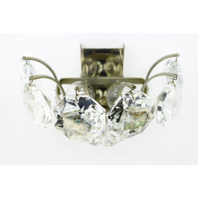 Bakalowits & Sohne One of Four Wall Sconces by Bakalowits Crystal and Nickel, Austria, Circa 1960s For Sale - Image 4 of 8