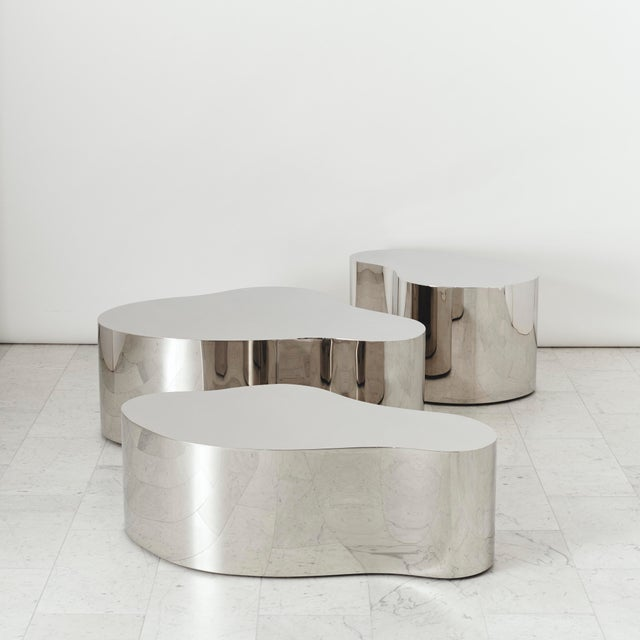 The Free Form Low Table was the first piece reissued under the gallery's exclusive representation of Karl Springer LTD....