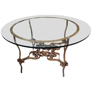 Italian Gilt Iron Center Table For Sale