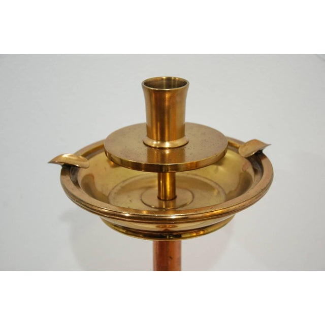 Circa 1960 Solid Brass English Smoking Stand For Sale - Image 4 of 5