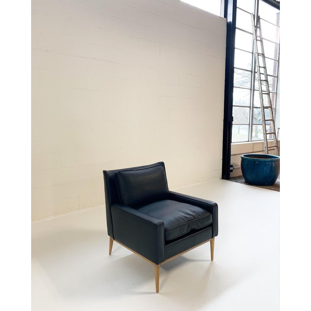 1950s Paul McCobb for Directional Model 302 Lounge Chair in Loro Piana Bufalo Leather For Sale - Image 5 of 9