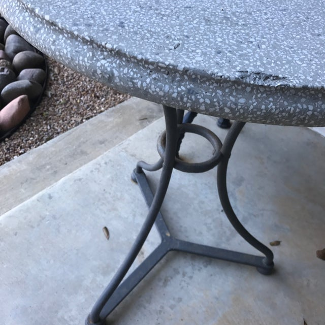Belgian Pair Belgian Iron and Terrazzo Gueridon Bistro Tables, circa 1960 For Sale - Image 3 of 6