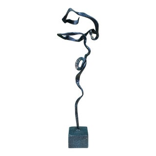 Freeform Verdigris Bronze Sculpture For Sale