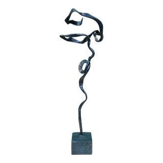 Freeform Verdigris Bronze Sculpture For Sale