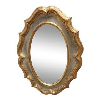 Vintage Italian Regency Carved Wood Gold Gilt Mirror