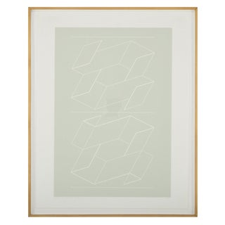 """Joseph Albers """"White Embossing on Gray"""" For Sale"""