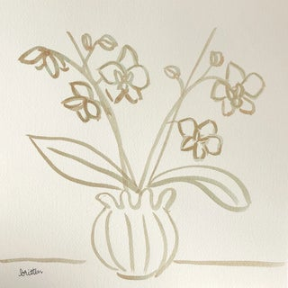 Classic Orchid by Meg Britten Painting For Sale
