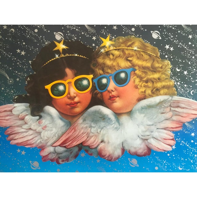 "Various Artists Vintage 1980 Rare Fiorucci New Wave Italian Fashion Lithograph Print Poster ""Cherub Angels"" For Sale - Image 4 of 11"