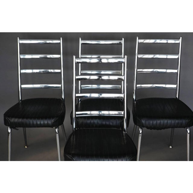 Silver Set of Four Chromecraft Dining Chairs For Sale - Image 8 of 8