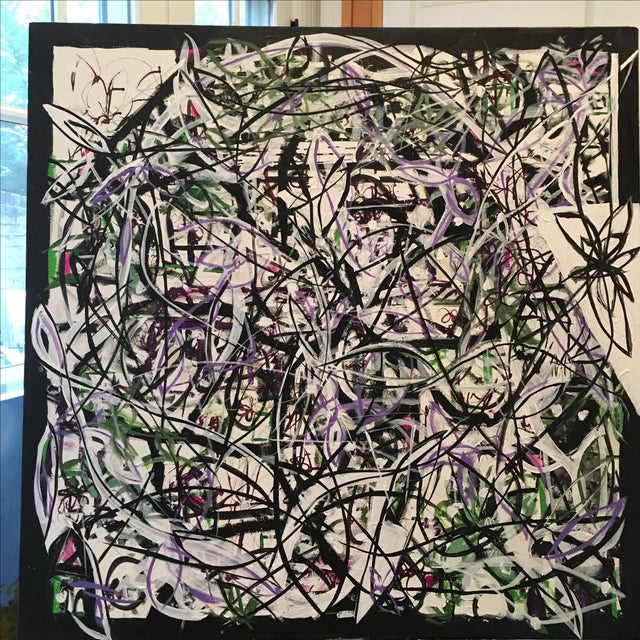 """Patterned Chaos"" Original Art by JJ Justice - Image 3 of 10"