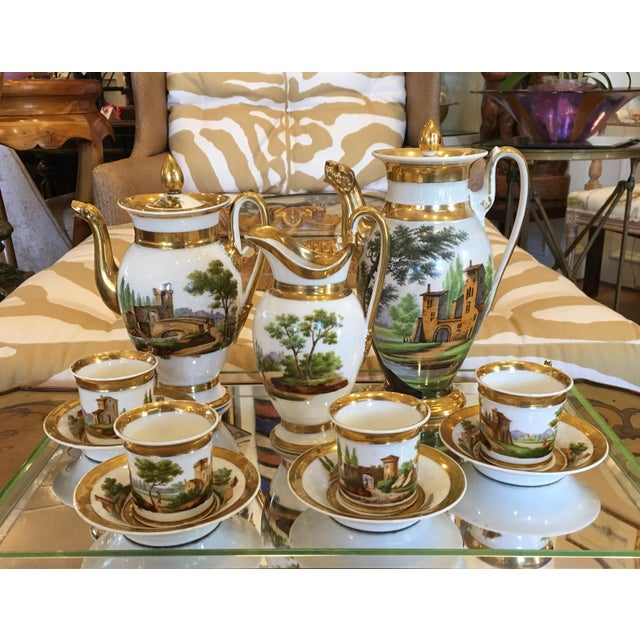 Antique Old Paris Porcelain Coffee Set - 12 Pieces - Image 3 of 7