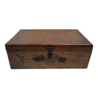 Antique French Handcrafted Signed Wood Box