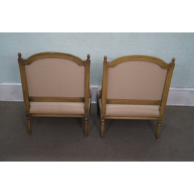 Quality French Louis XV Painted Slipper Chairs - 2 For Sale - Image 4 of 10