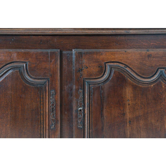 Oak French 18th Century Oak Buffet A' Deux Corps For Sale - Image 7 of 10