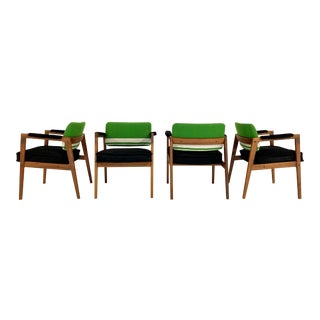 Mid-Century Swedish Chairs in Brazilian Cowhide and Isabel Marant Silk Wool For Sale