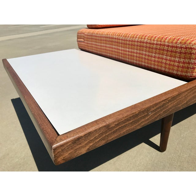 Sycamore Mid-Century Formica Platform Sofa For Sale - Image 7 of 11