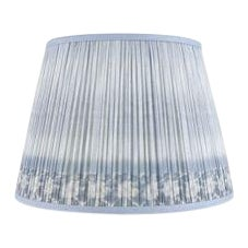 """Ikat Printed Lamp Shade 14"""", Blue For Sale"""