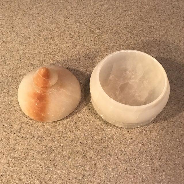 Vintage Alabaster Powder Jar - Image 4 of 11