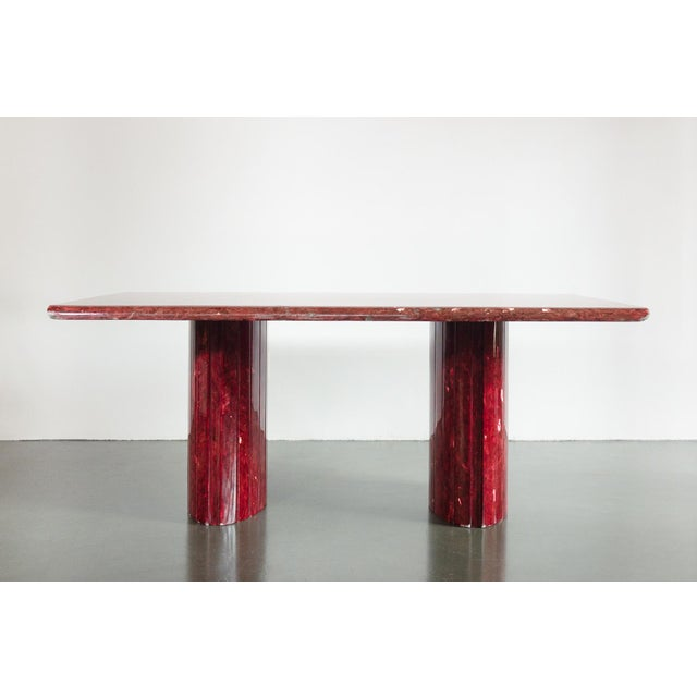 Stone Red Quartz Dining Table For Sale - Image 7 of 10