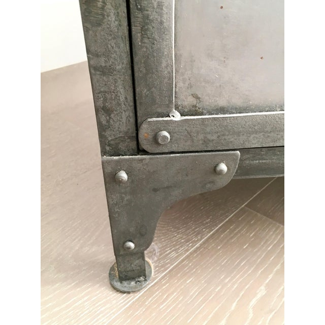 Industrial Antiqued Metal Cabinet - Image 5 of 9