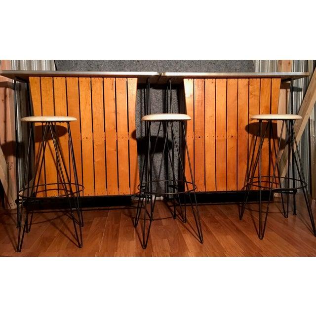 Arthur Umanoff Bar Stools - Set of 3 - Image 3 of 3