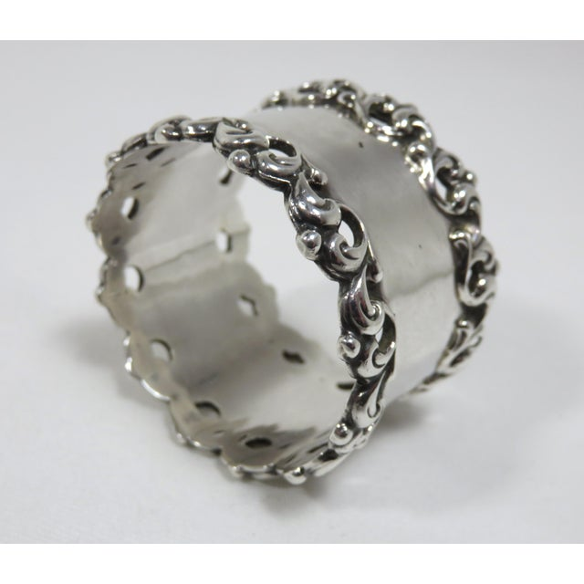 Late 19th Century Late 19th Century Antique Towle Silver Company Napkin Ring For Sale - Image 5 of 7