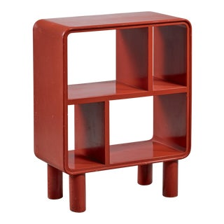 Small Art Deco Red Shelving Unit, Sweden, 1930s For Sale