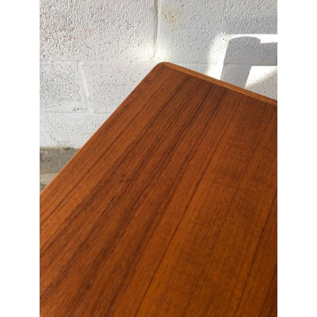 Vintage Mid Century Danish Modern Teak Side Table by Trioh Mobler Denmark For Sale - Image 9 of 11