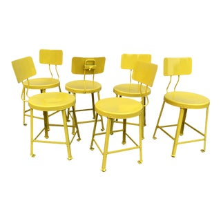 Steel Dining Chairs by Crow Works - Set of 6 For Sale