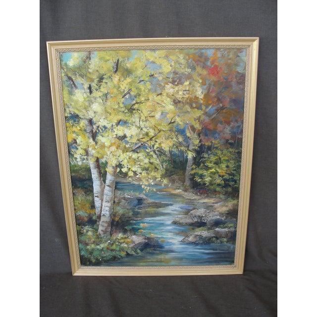 Vintage Impressionist Oil on Board Landscape Painting - Image 2 of 9